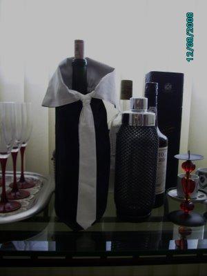 decoração de garrafa com tecido