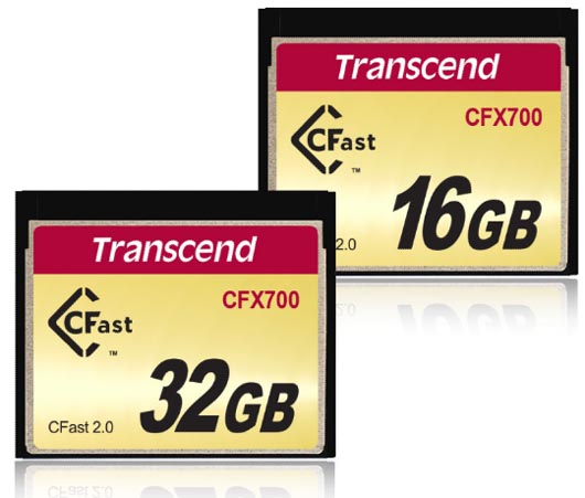 Transcend CFast 2.0 CFX700 Memory Cards