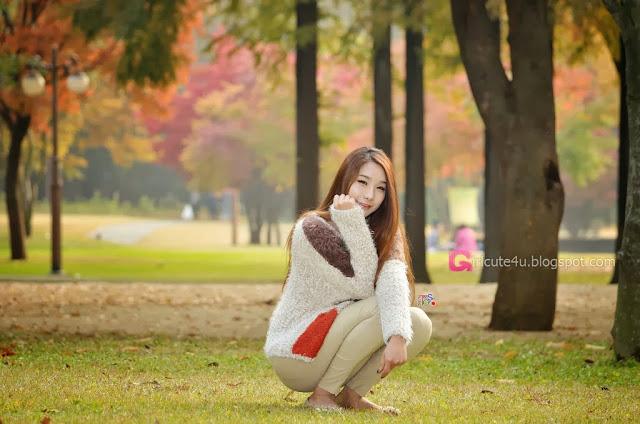 1 Jeon Da Huin Autumn - very cute asian girl-girlcute4u.blogspot.com
