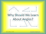 Why Should We Learn About Angles