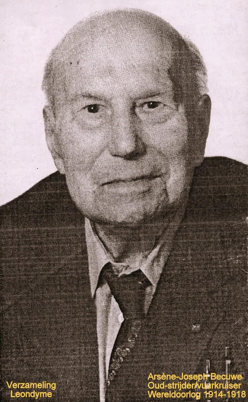 Oud-strijder Arsène Becuwe-Joseph 1891-1992. Verzameling Leondyme