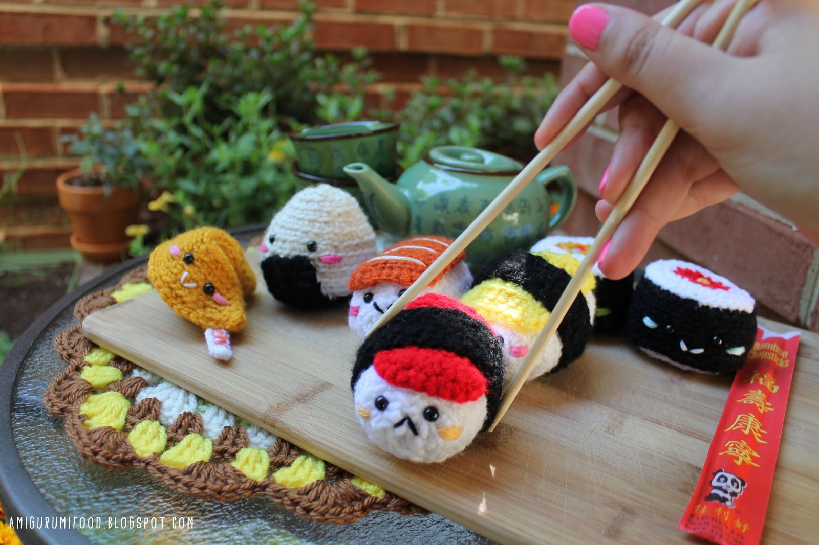Amigurumi Food: Sushi Amigurumi food