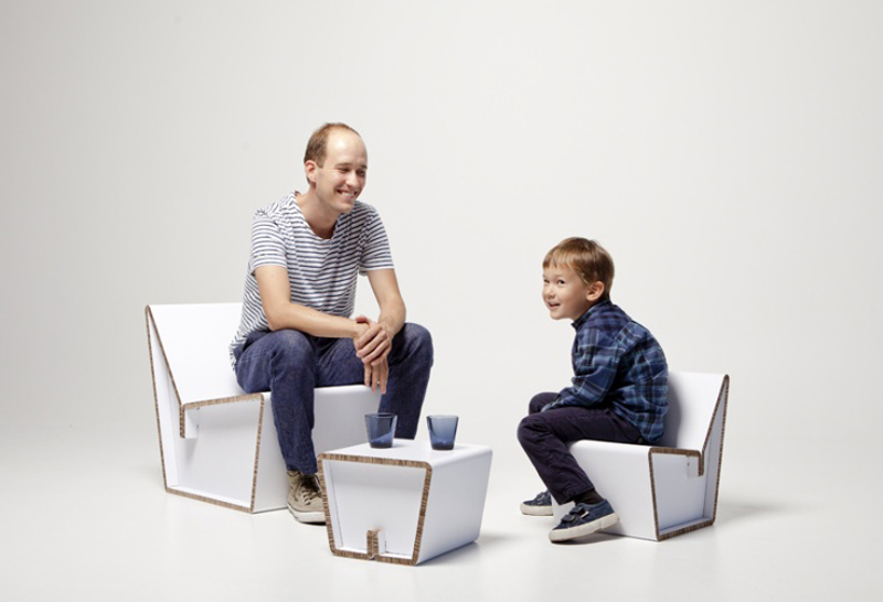 mobiliario de cartón