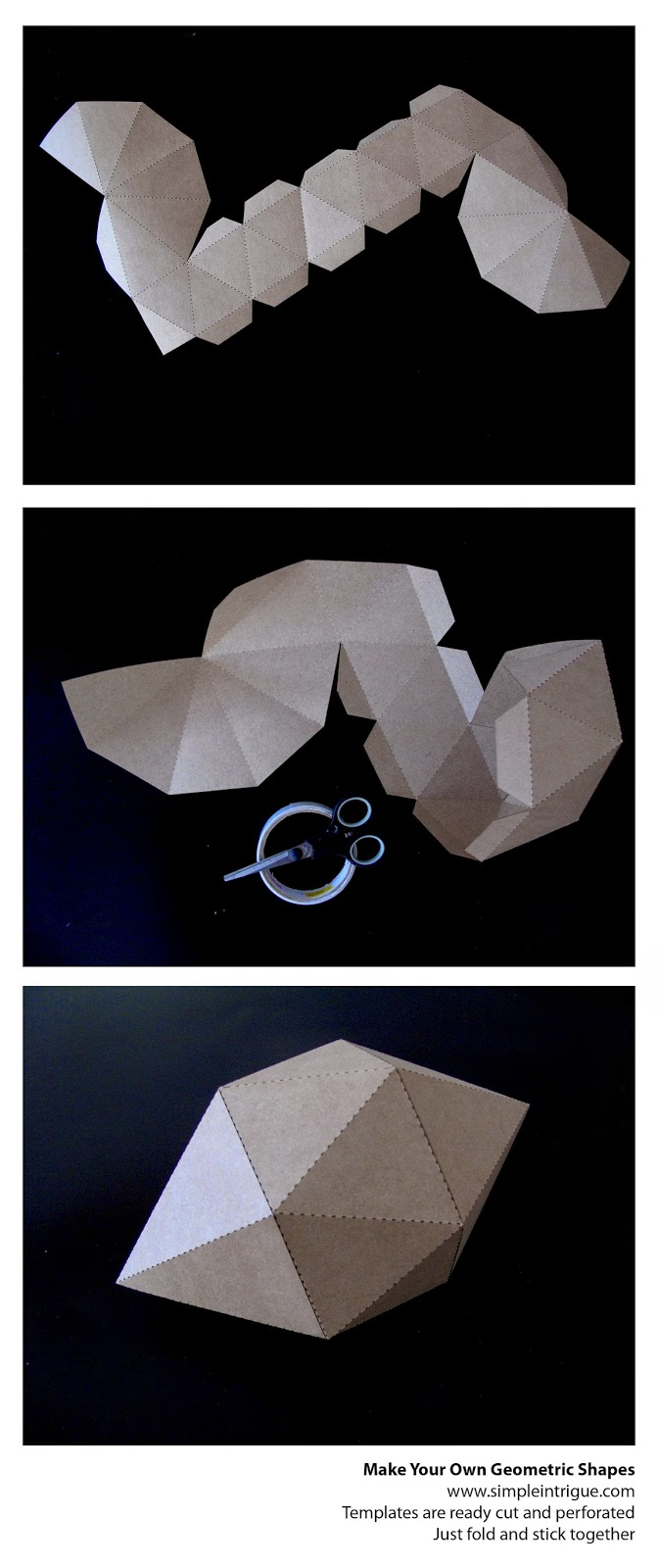Geometric shape - fold it yourself - from Simple Intrigue