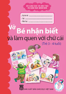Bé nhận biết và làm quen với chữ cái 3-4 tuổi
