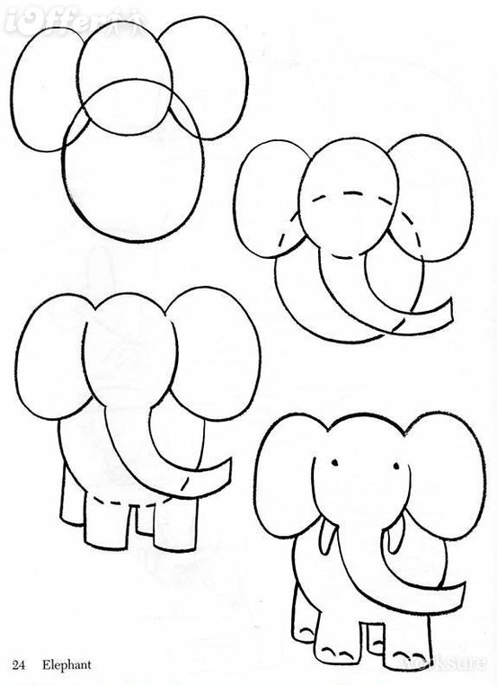 how to draw an elephnt