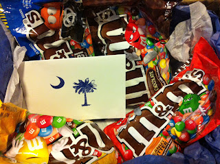 m&m care package