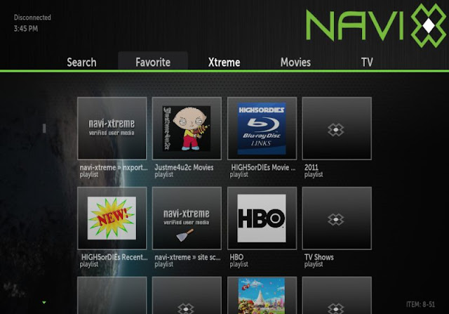 NaviX - Top Add-On for XBMC