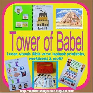 http://kidsbibledebjackson.blogspot.com/2013/06/genesis-tower-of-babel.html
