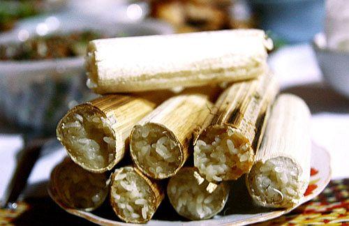 Độc đáo ẩm thực nấu ống lồ ô Kon Tum 5