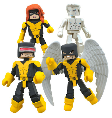 X-Men 1st Class Marvel Minimates Box Set - Marvel Girl (Jean Grey), Iceman, Cyclops & Angel