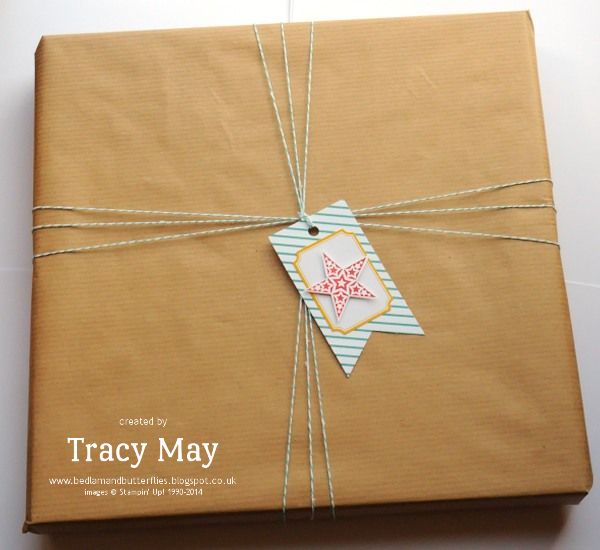 Stampin up tag a bag accessory kit Tracy May gift ideas