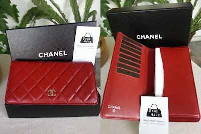 Chanel Red Lambskin bi Fold
