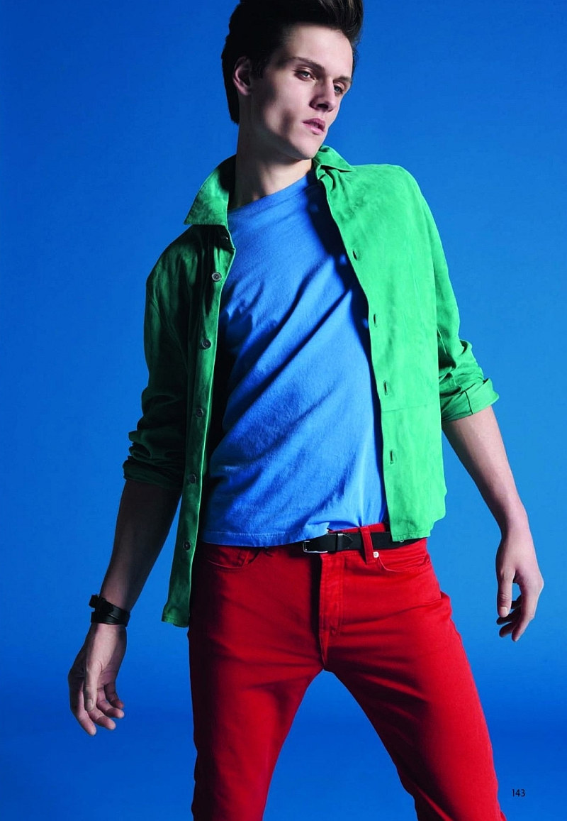 moda masculina colores fashion trendy Pierre-Harald by Milan Vukmirovic for L'Officiel Hommes China the fashionisto Colorful Beginnings