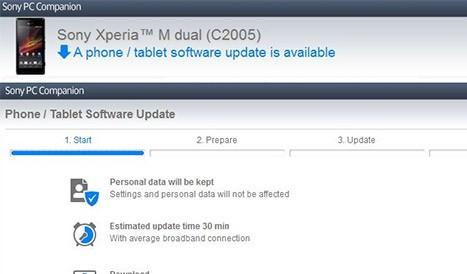 Aggiornamento Android 4.3 per Xperia M Dual iniziato