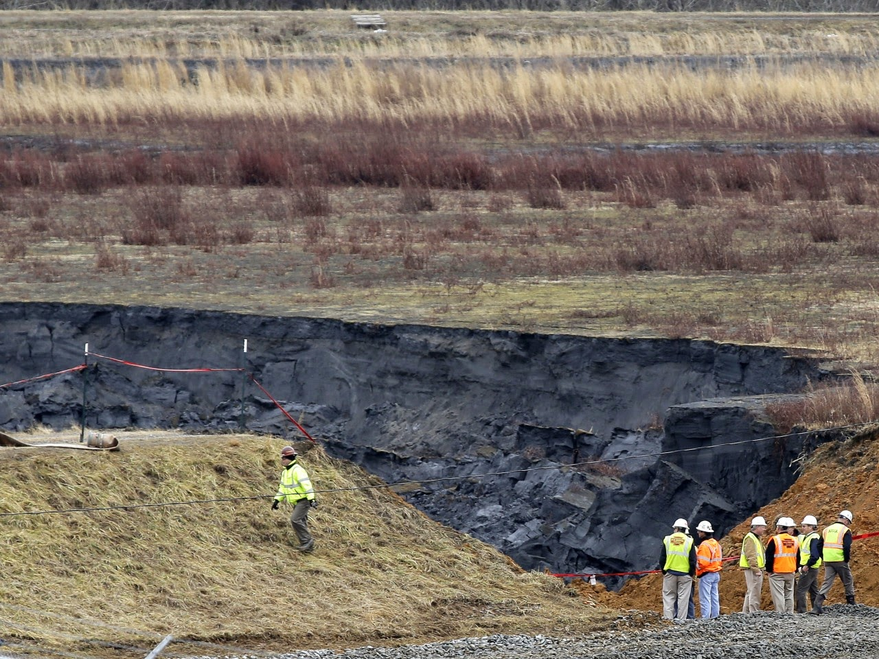 Duke Energy Dan River: Washout in Primary Ash Basin.