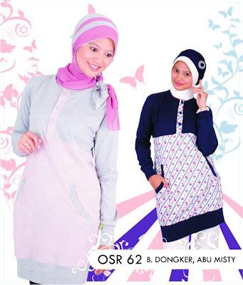 Katalog Fashion Osmoes Pakaian Wanita Muslim Biru Dongker Abu Misty