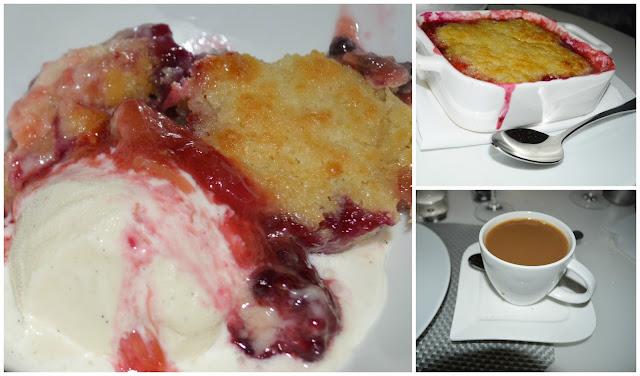 Warm Anise Shortbread-Rhubarb-Berry Compote-Vanilla Gelato at the Mediterraneo Restaurant