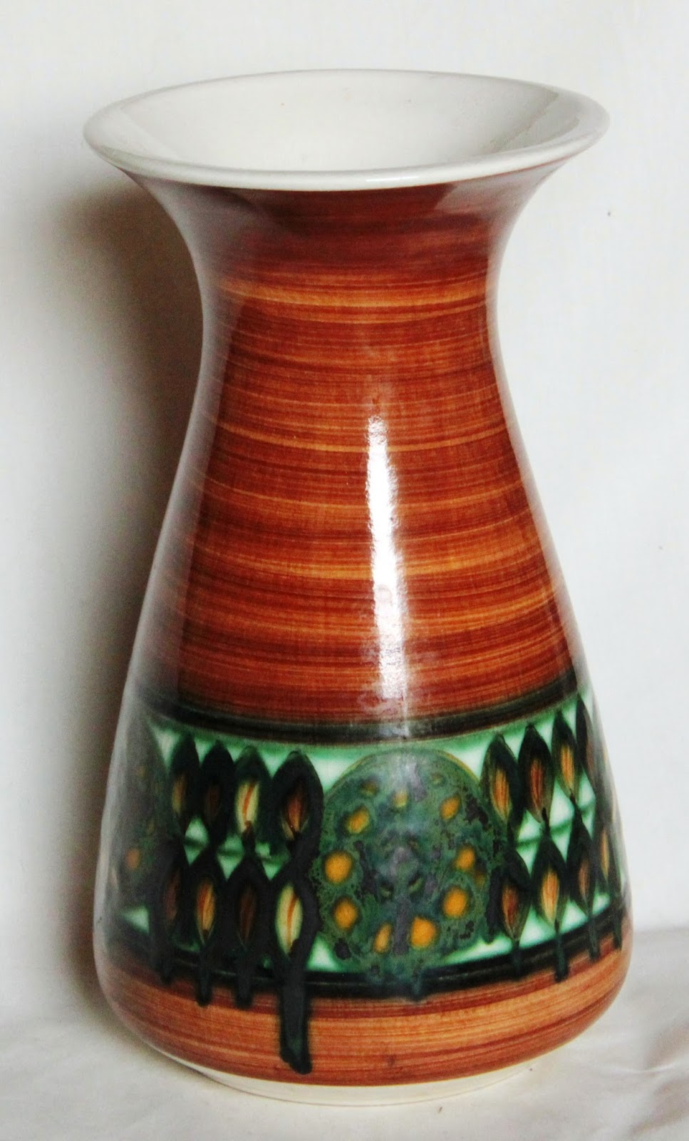 Vintage Jersey Pottery Hand Painted Vase