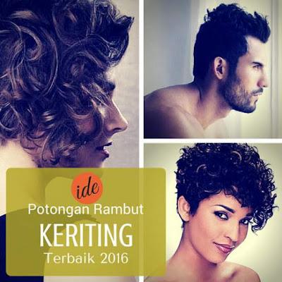 Model potongan rambut keriting terbaik