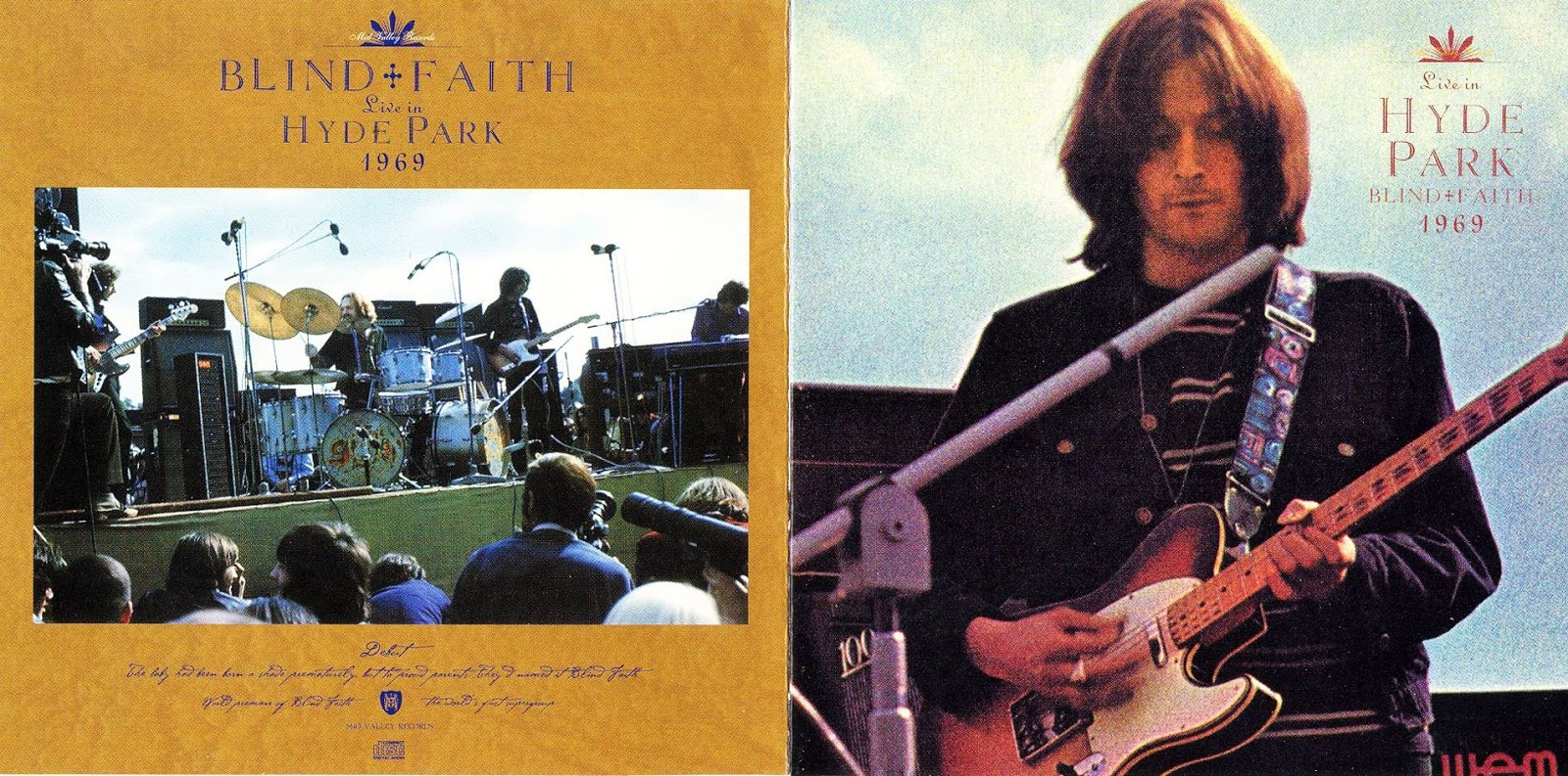 The Witchwood Records Blind Faith Hyde Park 1969