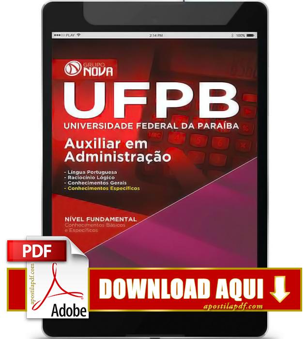 Apostila UFPB 2015 Auxiliar em Administração PDF Download