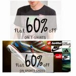 Paytm: Buy Clothing, Footwears & Accessories upto 75% off with 60% Cashback