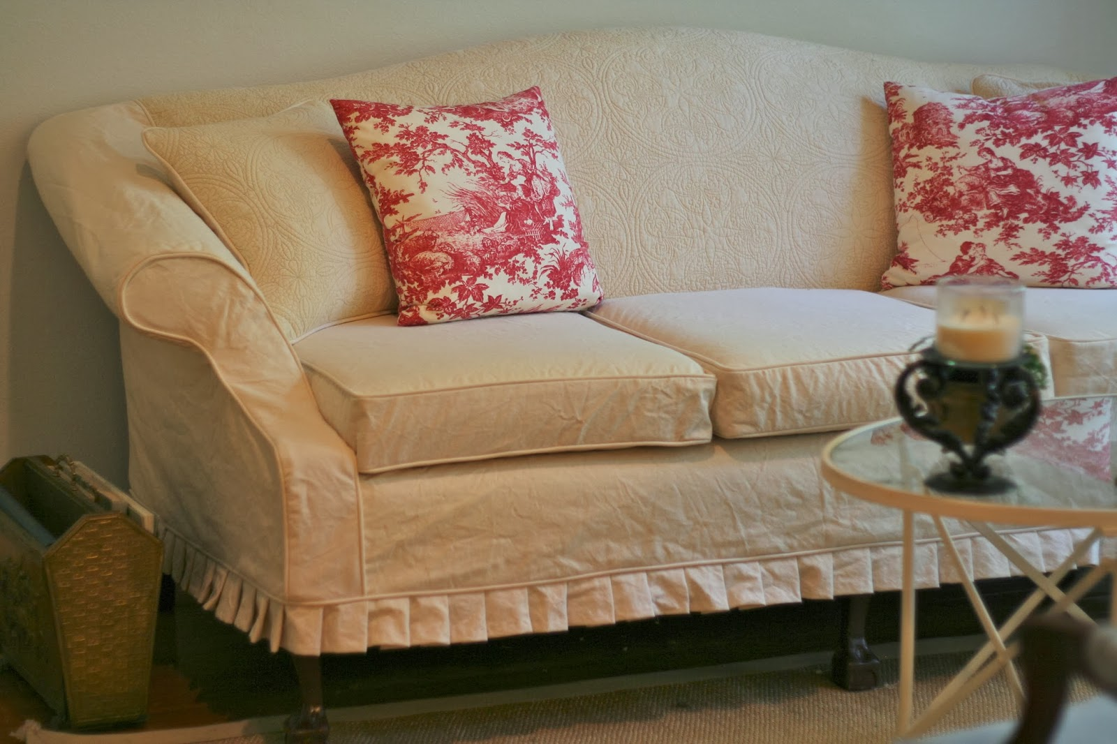 Camelback Sofa Slipcover Pattern By Camelback Sofa Slipcovers 3 Cushion  Pictures To Pin On ...