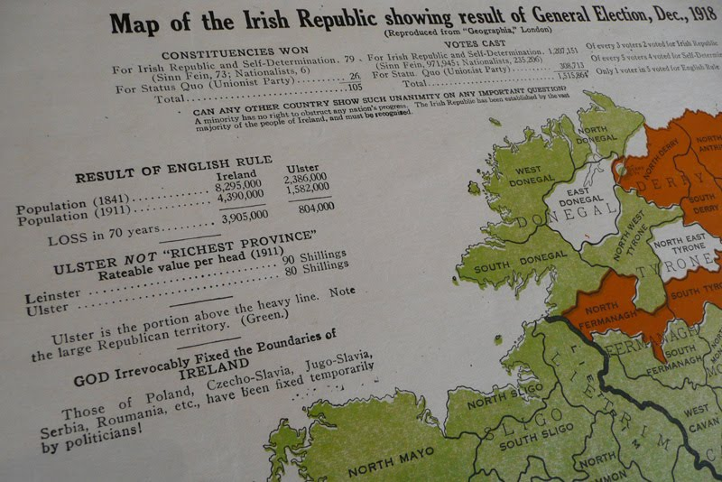 map of ireland counties and provinces. Text on the map reads,