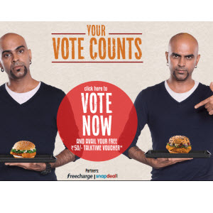 MCdonalds Cast Your Vote - Get Rs 50 Cashback
