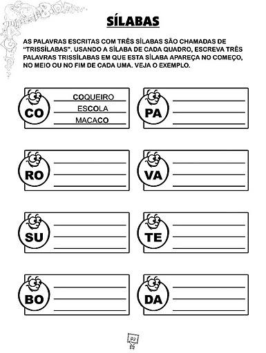 Monossilabas Dissilabas Trissilabas Polissilabas Atividades   11