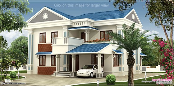 2000 sq feet beautiful villa elevation design