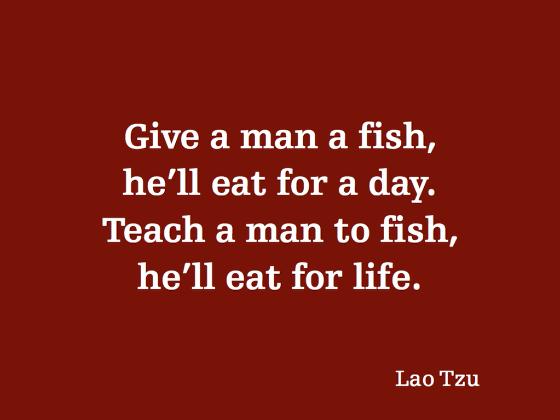 Blood, Sweat & Carbs: Teach a Man to Fish ~ D Blog Week, Day 2