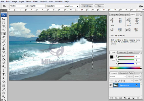 Edit Foto Photoshop, Membingkai ombak dengan photoshopEdit Foto Photoshop, Membingkai ombak dengan photoshop