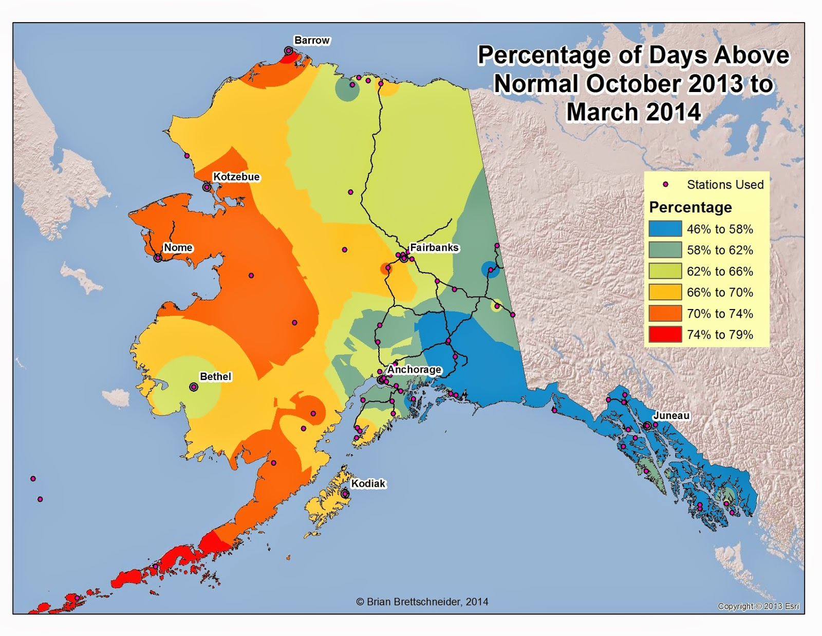 Deep Cold Interior And Northern Alaska Weather  Climate - Us weather map october