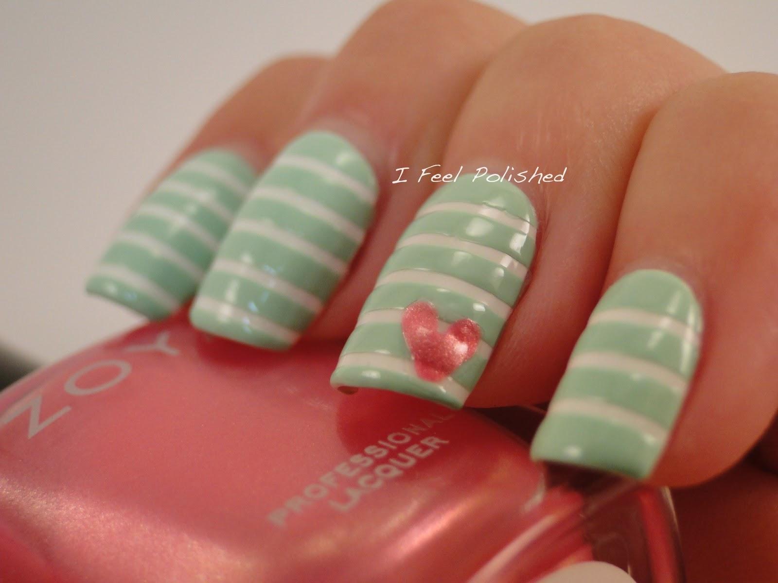 I feel polished mint manis for talia joy mint manicure prinsesfo Choice Image