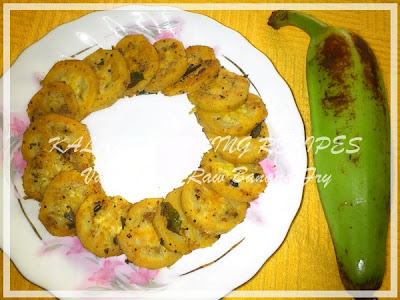 Simple Vazhakkai Fry \ Raw Banana Fry