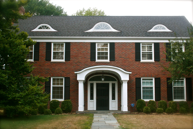 Housetalkn a brick colonial house tour for Colonial brick
