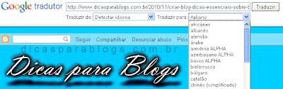 traduzir blog