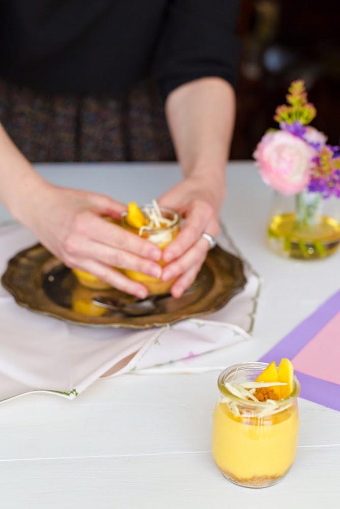 Cheesecake de mango en vasitos
