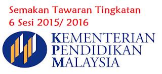 Rayuan Tingkatan 6 2015