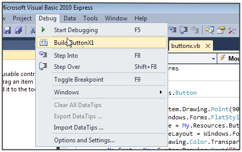 How to Create a Custom Button Control in VB.NET