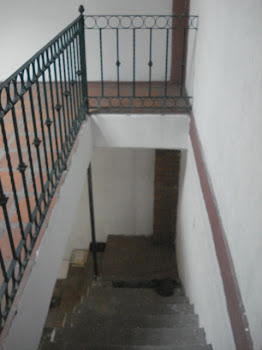 The staircase to the first floor