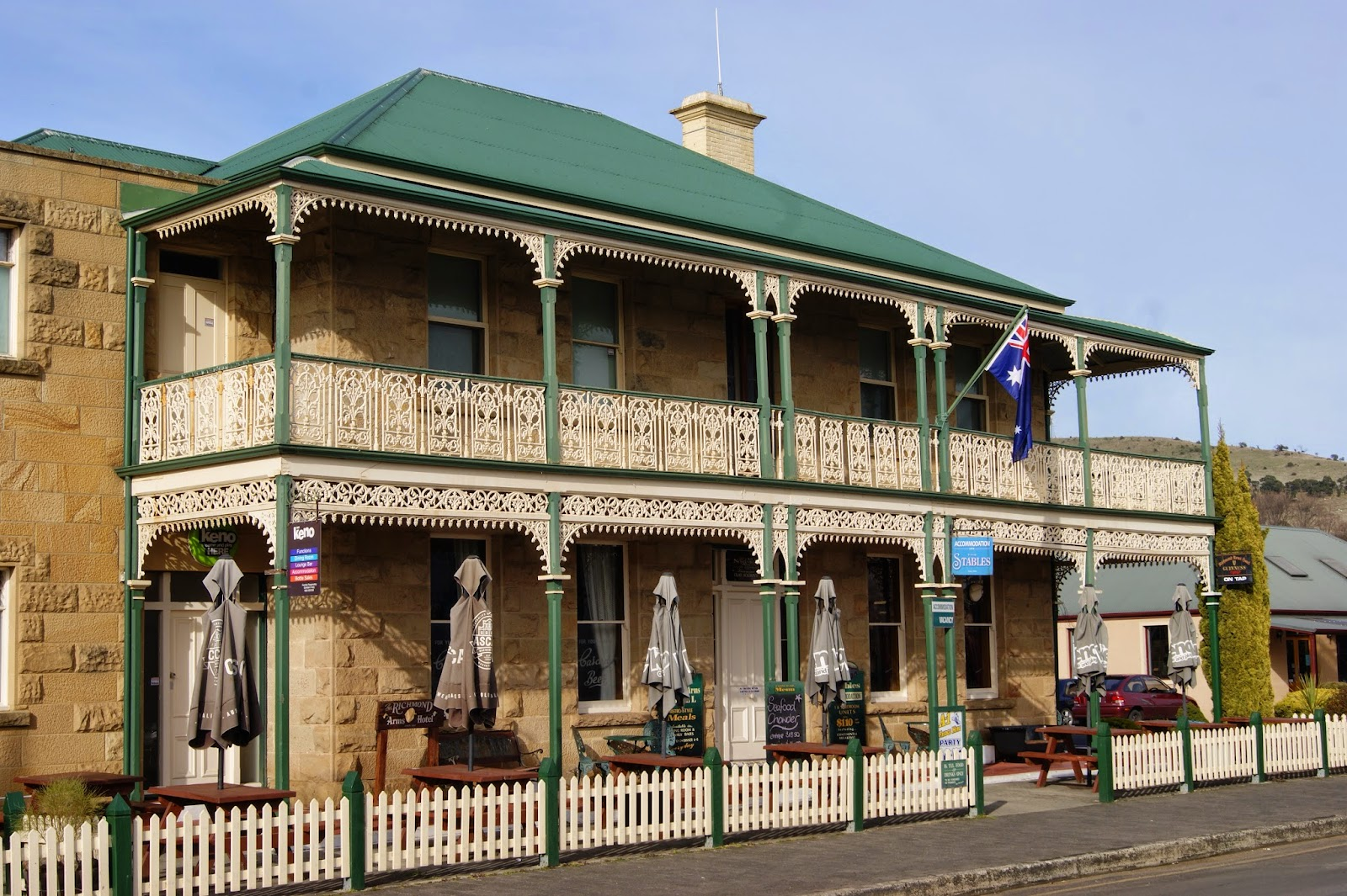 on the convict trail richmond arms hotel. Black Bedroom Furniture Sets. Home Design Ideas
