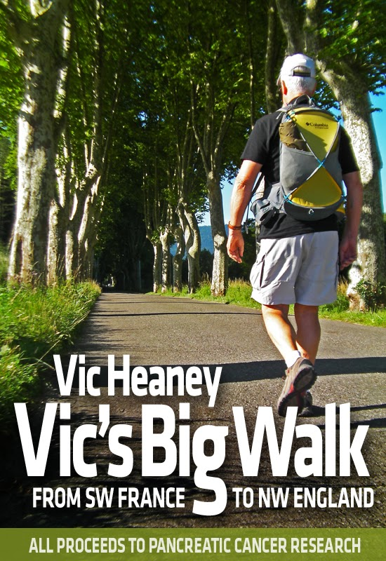 French Village Diaries Book Review Vic's Big Walk Vic Heaney Walking Pancreatic Cancer Research