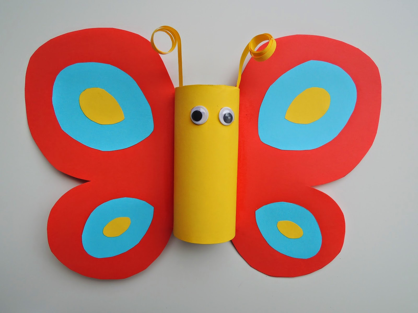 Toilet paper roll butterfly craft rossi s art and crafts