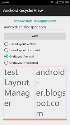 Linearlayoutmanager Together With Gridlayoutmanager For Recyclerview