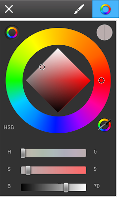 SketchBook Mobile: The color palette