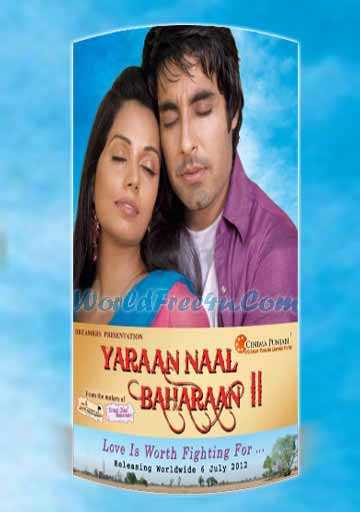 Poster Of Yaraan Naal Baharaan 2 (2011) In 300MB Compressed Size PC Movie Free Download At 300Mb.cc