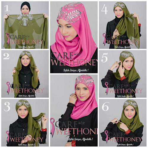 Cara Memakai Jilbab Pengantin Muslimah Modern Cara Memakai Jilbab Pengantin